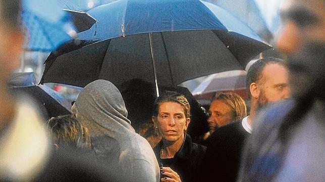 La ex mujer de Nisman, Sandra Arroyo, en una marcha en Buenos Aires