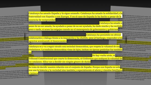 """Los párrafos más polémicos de la carta """"A los españoles"""" de Artur Mas"""