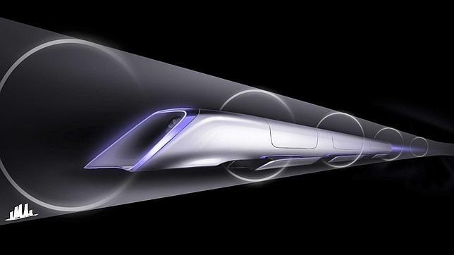 Boceto del Hyperloop, el proyecto de tren supersónico