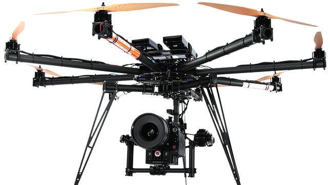 Dron con cámara para seguridad