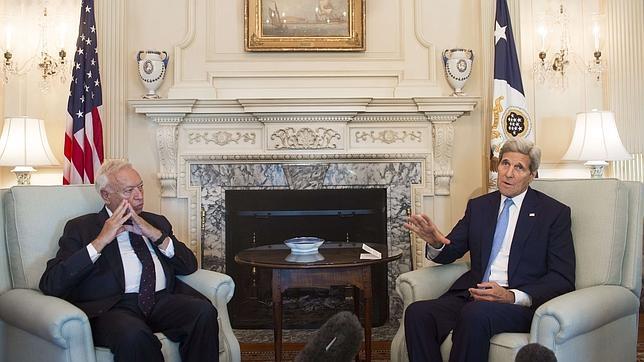 José Manuel García-Margallo, en su reunión con John Kerry