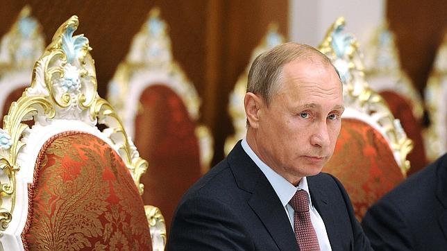 Vladimir Putin durante una reunión el pasado martes