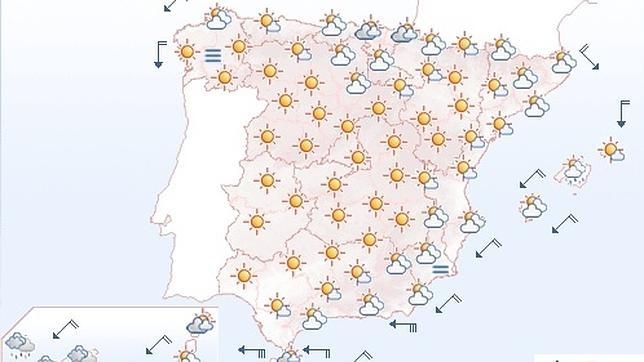 Mapa Del Tiempo España Fin De Semana.El Verano Se Despide Con Subida De Las Temperaturas Y Cielos