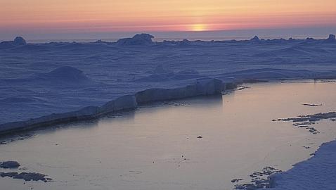 Puesta de sol en el Ártico