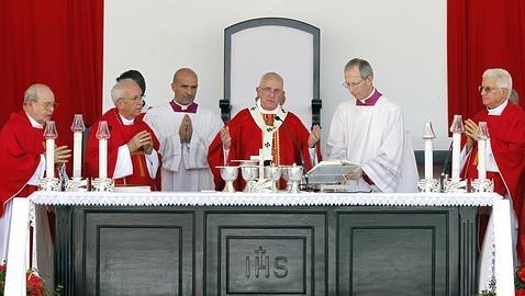 El Papa, durante la misa en Holguín