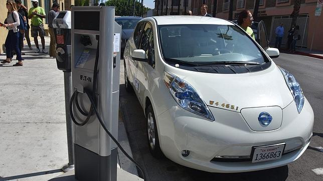 Un punto de recarga para coches eléctricos