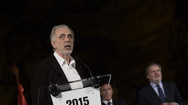 Fernando Trueba, el pasado sábado, al recoger el Premio Nacional de Cinematografía