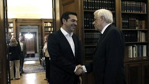 Tsipras y el presidente griego, Prokopis Pavlopoulos
