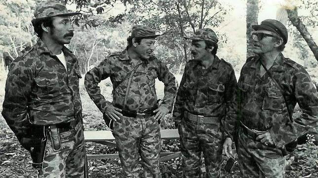 Un grupo de líderes guerrilleros colombianos en la década de los 80
