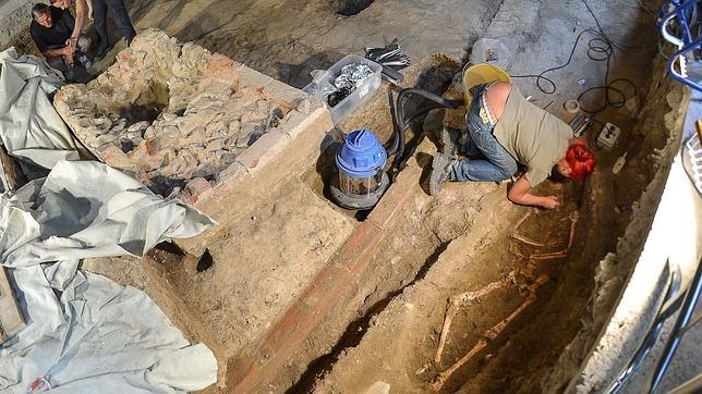 Excavaciones en el exconvento de Santa Orsola en Florencia