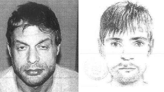 A la izquierda, Antonio Ortiz en prisión. A la derecha, el retrato robot que hizo el padre de una víctima