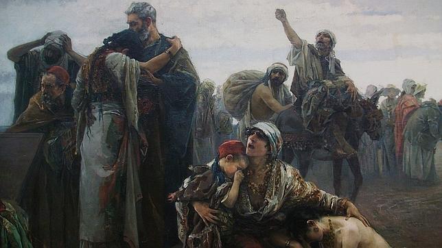 «La expulsión de los moriscos» (1894), de Gabriel Puig Roda.