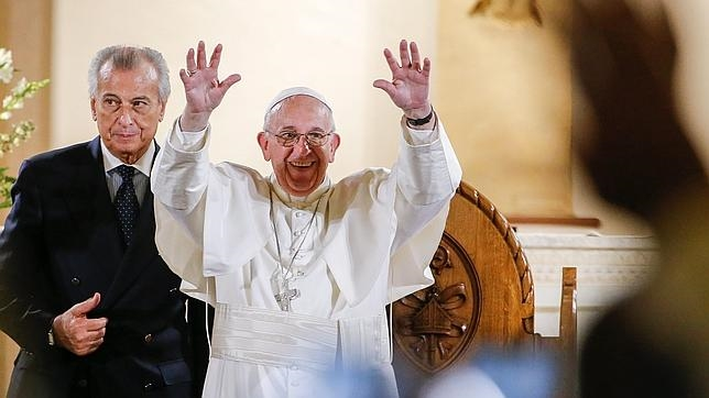 El Papa Francisco durante su homilía este jueves en la Iglesia de San Patricio de Washington