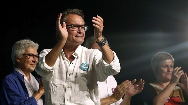 Artur Mas, durante un mitin de «Junts Pel Sí»