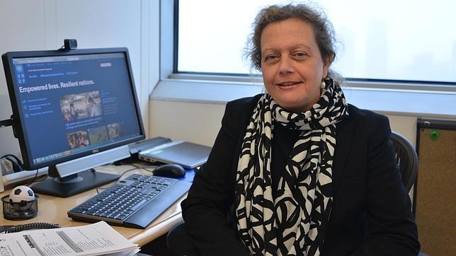 Paloma Durán, en su despacho de Naciones Unidas