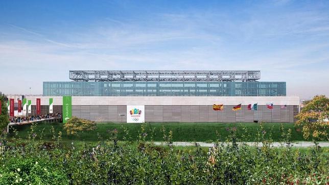 Simulación incluida en el proyecto olímpico de cómo será el Centro Acuático