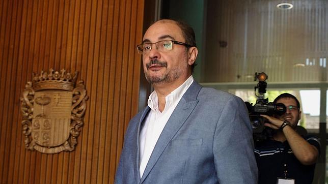 El presidente del Gobierno aragonés y líder regional del PSOE, Javier Lambán