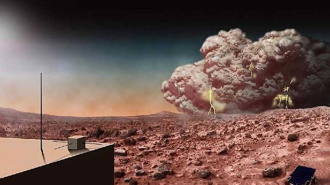 Así sería la terrorífica llegada de un astronauta a Marte Artists-concept-mars-martian-dust-storm-electricity-br2--644x362