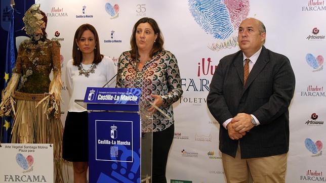 Ana Isabel Fernández, Patricia Franco y Roberto Perea, en la presentación de la feria