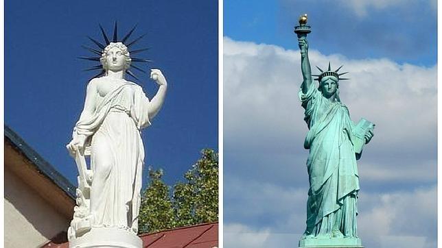 Resultado de imagen de Estatua de la libertad madrid