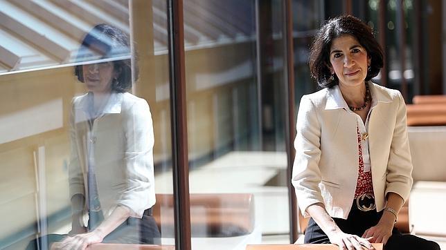 Fabiola Gianotti, próxima directora general del CERN, durante la entrevista concedida a ABC en Madrid