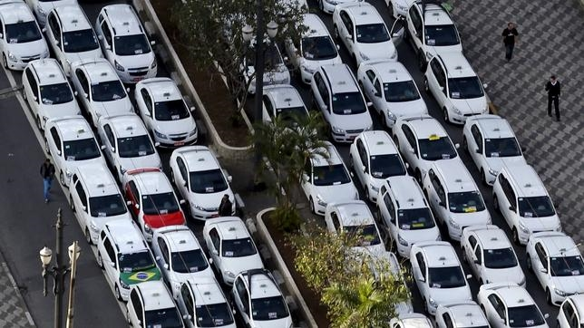 Protestas en Brasil por la popularización de Uber
