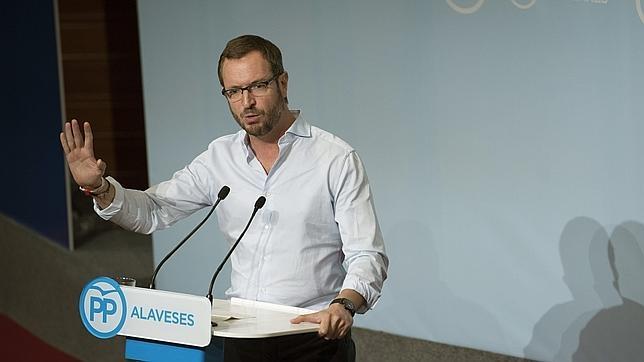 El ex alcalde de Vitoria, Javier Maroto, durante su intervención en un acto en la ciudad el pasado 26 de septiembre