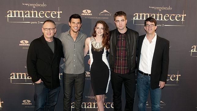 Los protagonistas de la versión cinematográfica de Crepúsculo en Madrid en la presentación de «Amanecer parte 2»