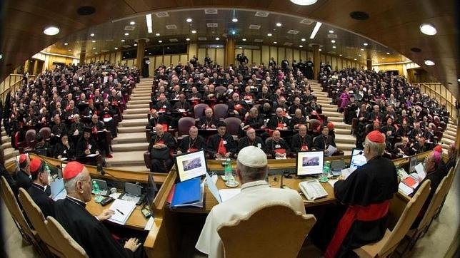 El Papa Francisco, durante la sesión matutina de la 16ª reunión ordinaria del Sínodo de Obispos en el Vaticano