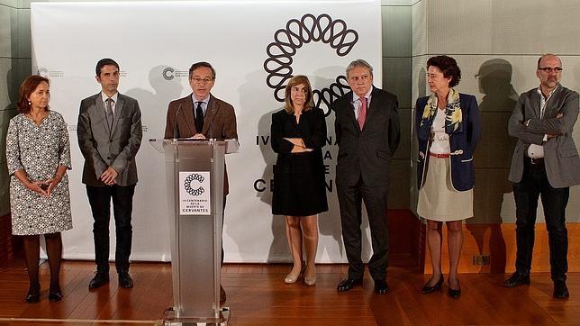 El secretario de Estado de Cultura, José María Lassalle, durante la presentación del programa, en presencia de otras autoridades