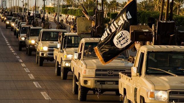 Terroristas de EI en la ciudad Libia de Sirte