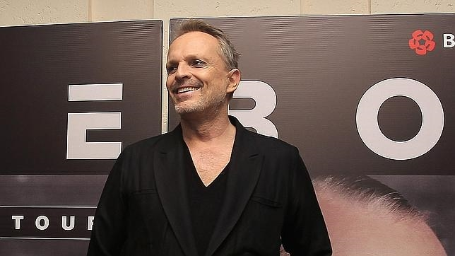 Miguel Bosé, en la presentación de su gira en México