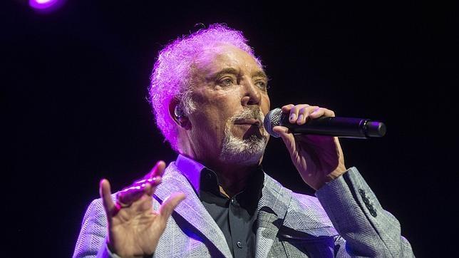 Tom Jones durante un concierto en Madrid