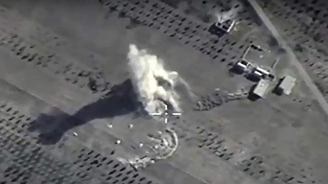 Imagen de un ataque de la aviación rusa en Siria difundida por el Ministerio de Defensa de Rusia
