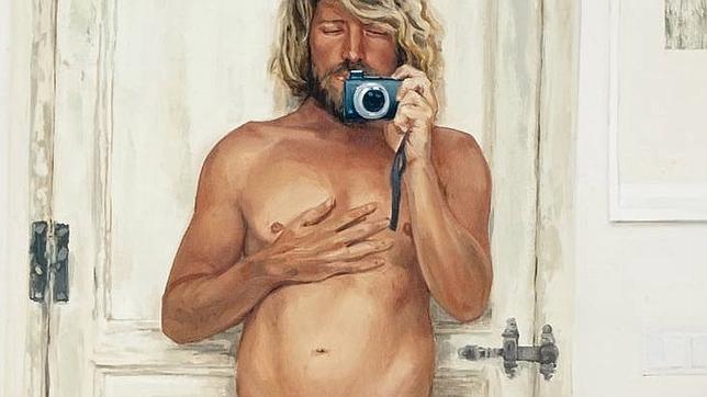 Detalle de «Narciso. Juan», uno de los pocos desnudos del artista
