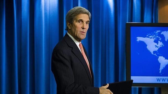 El secretario de Estado estadounidense John Kerry en la presentación del informe anual sobre la libertad religiosa