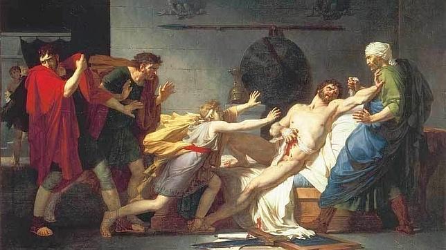 La muerte de Catón, por Pierre-Narcisse Guérin