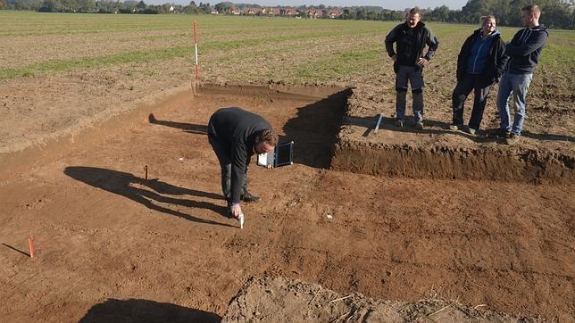 Los arqueólogos de la Universidad de Osnabrück que están realizando las excavaciones