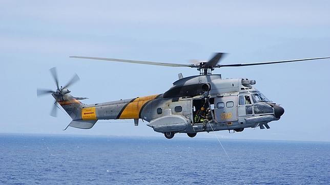 Super Puma del 802 escuadrón del Ejército del Aire como el accidentado