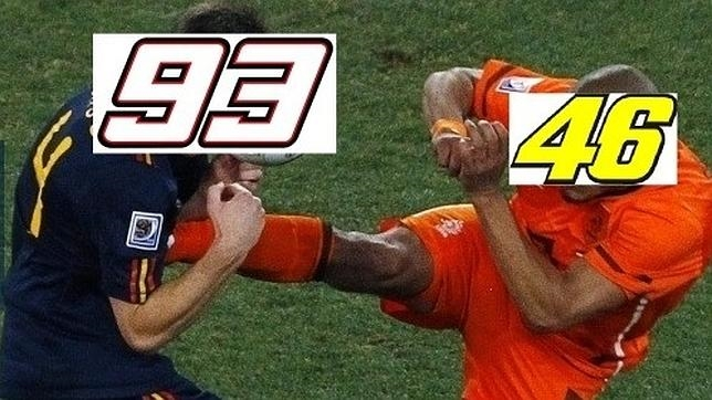 Los mejores memes de la patada de Rossi a Márquez