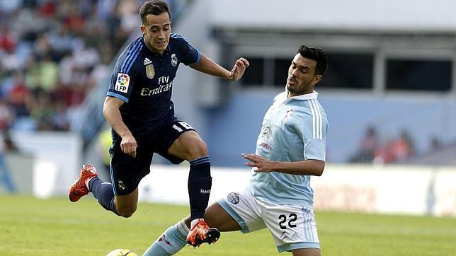 Lucas Vázquez, antes de dar el 0-1 a Cristiano