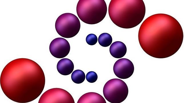Imagen que representa un crecimiento de orden matemático, que simbolizó los sueños y las esperanzas en la exhibición «NIMS-IMAGINARY», en Seúl