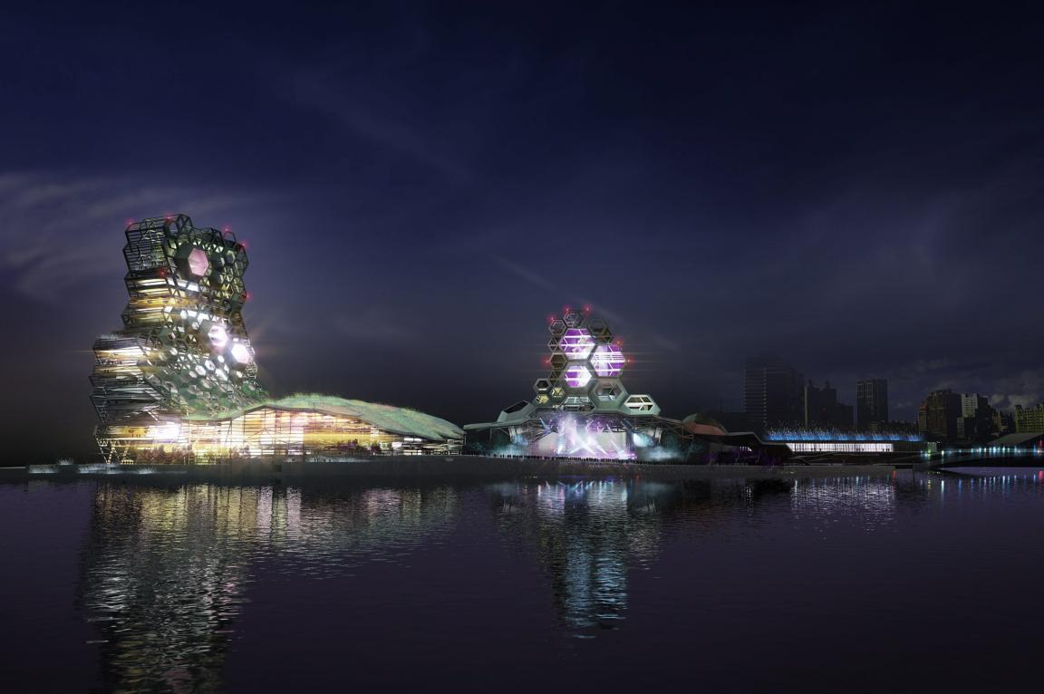 Simulación del proyecto español para el complejo cultural Kaohsiung. ABC