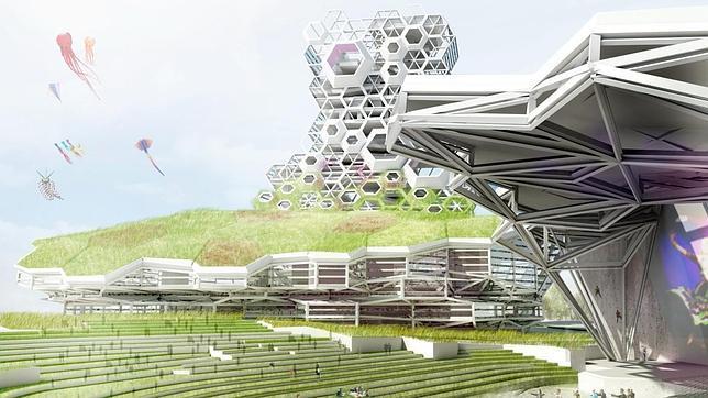 Simulación del proyecto español para el complejo cultural Kaohsiung