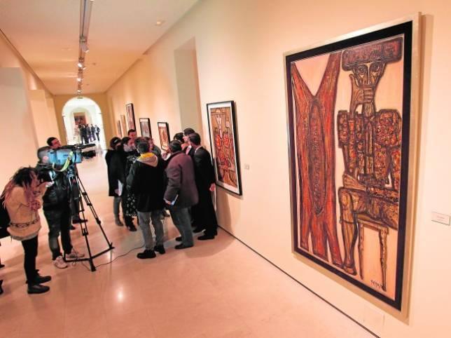 Exposición «Miguel Herrero, Raíces y Esencias», que se puede ver en el Museo de la Merced de Ciudad Real hasta marzo