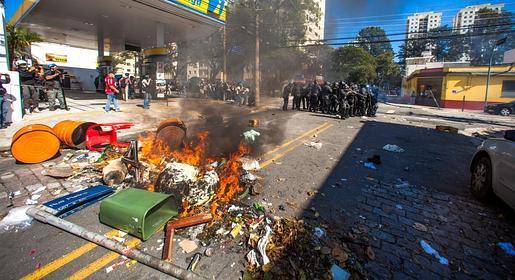 Directo: cinco heridos en las protestas contra el Mundial en Sao Paulo