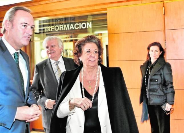 Alberto Fabra y Rita Barberá acudieron ayer a la reunión del jurado del XXIII Premio de Convivencia