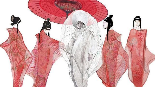Diseños del vestuario para Cio-Cio y sus amigas realizados por Lluc Castells