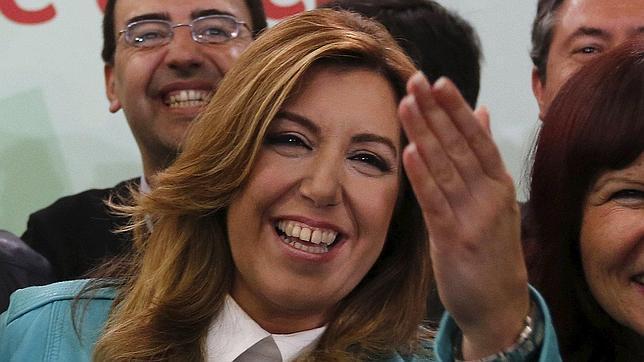 Susana Díaz celebra su victoria electoral