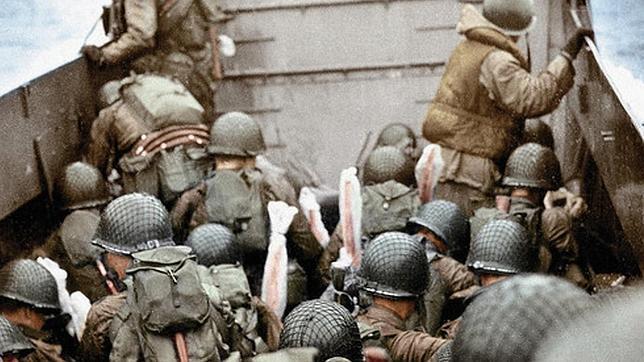 Imagen de archivo del desembarco de Normandía